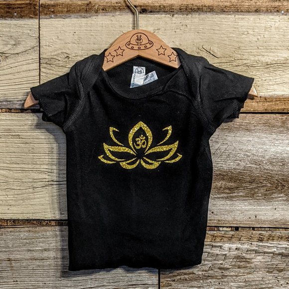 Other - Lotus Flower & Ohm T shirt sz 6M NWT